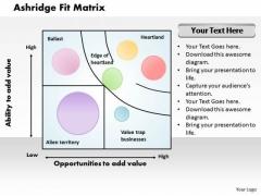 Ashridge Fit Matrix Business PowerPoint Presentation