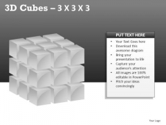 Assemble 3d Cube 3x3x3 PowerPoint Slides And Ppt Diagram Templates