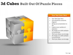 Assembling 3d Cube Puzzle Pieces PowerPoint Slides And Ppt Diagram Templates