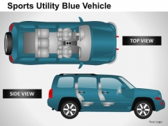 Astra Sports Utility Blue Vehicle PowerPoint Slides And Ppt Diagram Templates