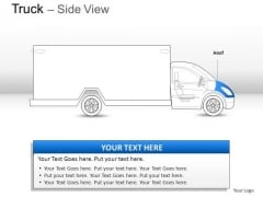 Astro Blue Truck Side View PowerPoint Slides And Ppt Diagram Templates