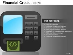 Atm Bank Financial Crisis Icons PowerPoint Templates