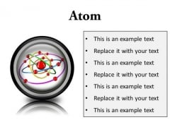 Atom Science PowerPoint Presentation Slides Cc