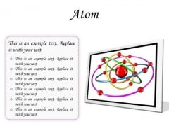 Atom Science PowerPoint Presentation Slides F