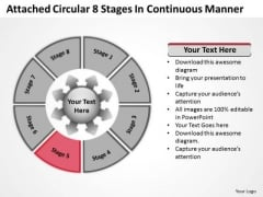Attached Circular 8 Stages In Continuous Manner Cycle Process PowerPoint Template