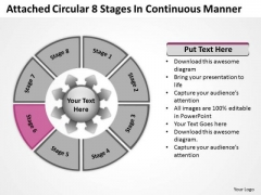 Attached Circular 8 Stages In Continuous Manner Ppt Cycle Process PowerPoint Templates