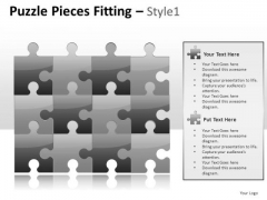 Attached Puzzle Pieces Fitting 1 PowerPoint Slides And Ppt Diagram Templates