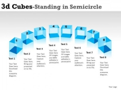 Attention 3d Cube Standing In Semicircle PowerPoint Slides And Ppt Diagram Templates