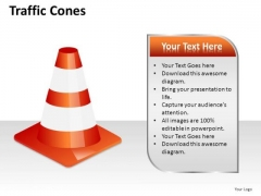 Attention Traffic Cones PowerPoint Slides And Ppt Diagram Templates