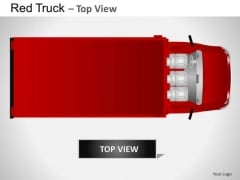 Attraction Red Truck Top View PowerPoint Slides And Ppt Diagram Templates