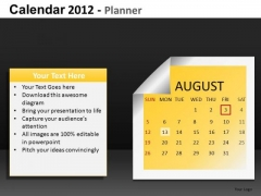 August 2012 Calendar PowerPoint Slides