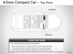 Auto 4 Door Blue Car Top View PowerPoint Slides And Ppt Diagram Templates