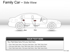 Auto Red Family Car PowerPoint Slides And Ppt Diagram Templates