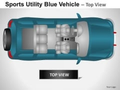 Auto Sports Utility Blue Vehicle PowerPoint Slides And Ppt Diagram Templates