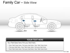 Automobile Blue Family Car Side View PowerPoint Slides And Ppt Diagram Templates