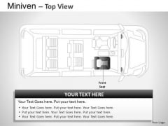 Automobile Blue Minivan Top View PowerPoint Slides And Ppt Diagram Templates