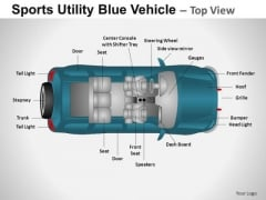 Automobile Sports Utility Blue Vehicle PowerPoint Slides And Ppt Diagram Templates