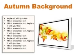 Autumn Background PowerPoint Presentation Slides F