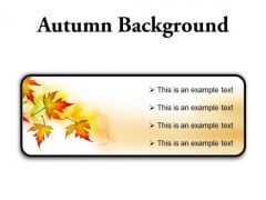 Autumn Background PowerPoint Presentation Slides R