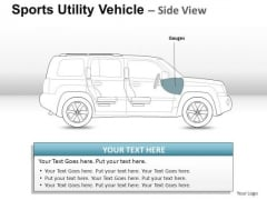 Autumn Sports Utility Blue Vehicle PowerPoint Slides And Ppt Diagram Templates
