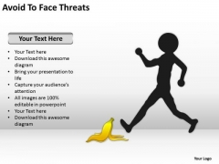 Avoid To Face Threats Ppt Template For Writing Business Plan PowerPoint Templates