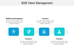 B2B Client Management Ppt PowerPoint Presentation File Elements Cpb