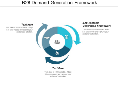 B2B Demand Generation Framework Ppt PowerPoint Presentation Infographic Template Brochure Cpb