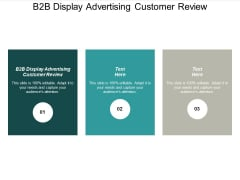 B2B Display Advertising Customer Review Ppt PowerPoint Presentation Slides Brochure Cpb