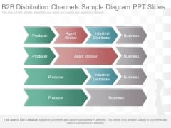 B2B Distribution Channels Sample Diagram Ppt Slides