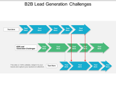 B2B Lead Generation Challenges Ppt PowerPoint Presentation Model Vector Cpb