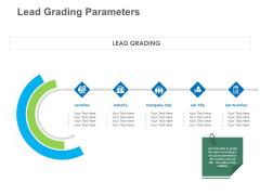 B2B Lead Generation Lead Grading Parameters Information PDF