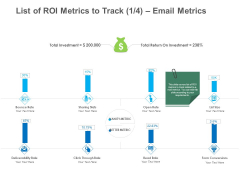 B2B Lead Generation List Of ROI Metrics To Track Email Metrics Demonstration PDF