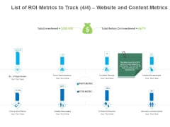 B2B Lead Generation List Of ROI Metrics To Track Website And Content Metrics Introduction PDF