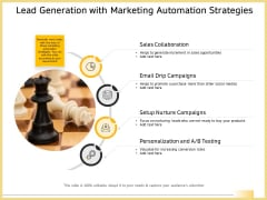 B2B Marketing Lead Generation With Marketing Automation Strategies Diagrams PDF