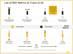 B2B Marketing List Of ROI Metrics To Track Deliverability Rate Brochure PDF