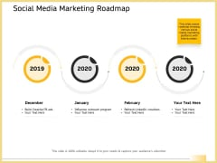 B2B Marketing Social Media Marketing Roadmap Background PDF