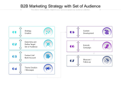 B2B Marketing Strategy With Set Of Audience Ppt PowerPoint Presentation Gallery Background Image PDF