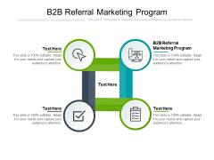 B2B Referral Marketing Program Ppt PowerPoint Presentation Summary Show Cpb