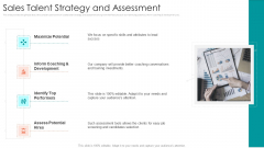 B2B Sales Procedure Counselling Sales Talent Strategy And Assessment Brochure PDF
