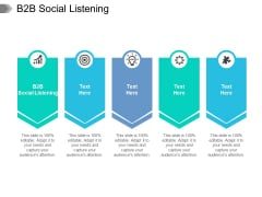 B2B Social Listening Ppt PowerPoint Presentation Slides Infographic Template Cpb Pdf