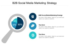 B2B Social Media Marketing Strategy Ppt PowerPoint Presentation Outline Influencers