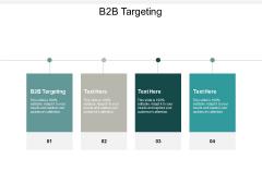 B2B Targeting Ppt PowerPoint Presentation Portfolio Inspiration Cpb