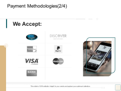 B2B Trade Management Payment Methodologies We Accept Ppt Icon Example PDF