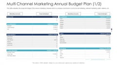 B2C Marketing Initiatives Strategies For Business Multi Channel Marketing Annual Budget Plan Projected Ppt Ideas Slides PDF