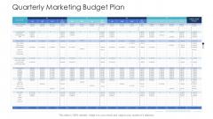 B2C Marketing Initiatives Strategies For Business Quarterly Marketing Budget Plan Ppt File Diagrams PDF