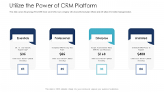 B2C Marketing Initiatives Strategies For Business Utilize The Power Of CRM Platform Ppt Styles Information PDF