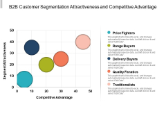 B2b Customer Segmentation Attractiveness And Competitive Advantage Ppt PowerPoint Presentation Background Designs