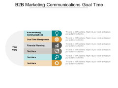 B2b Marketing Communications Goal Time Management Financial Planning Ppt PowerPoint Presentation Icon Design Inspiration