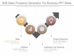 B2b Sales Prospects Generation For Business Ppt Slides