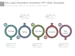 B2c Lead Generation Illustration Ppt Slide Templates